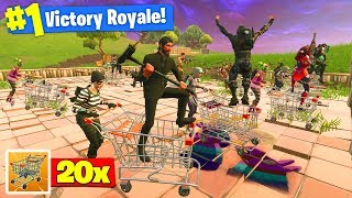 Download The WORLDS *BIGGEST* Shopping Cart Race In Fortnite Battle Royale! Video