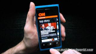 Download Official CNN App for Windows Phone On the Nokia Lumia 800 Video