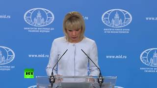 Download Maria Zakharova holds weekly briefing in Moscow Video