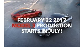 Download February 22 2017 Model 3 PRODUCTION Starts in July! | Model 3 Owners Club Video