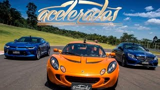 Download CHEVROLET CAMARO SS x LOTUS ELISE x MERCEDES-AMG C 43 - VR C/ BARRICHELLO #101 | ACELERADOS Video