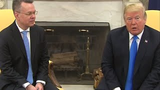 Download Trump meets with freed American pastor Andrew Brunson Video