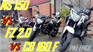 Download PULSAR NS 150 Vs HONDA CB160F Vs YAMAHA FZ 2.0🔥🏍️🏍️🔥  FINAL INESPERADO  Pike Epico Video