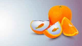 Download Photoshop Photo Manipulation | Water Fruit Orange Video