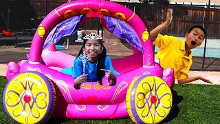 Download Wendy Pretend Play with Princess Carriage Inflatable Kids Toy Video