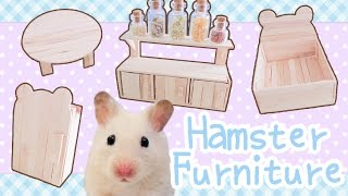 Download Popsicle Stick Furniture (with working doors!) ☆HAMSTER DIY☆ Video