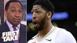 Download Stephen A. 'scared' Anthony Davis is Lakers' only option | First Take Video