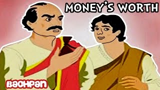 Download English Short Stories For Kids | Money's Worth | English Moral Stories For Kids | Bachpan Tube Video