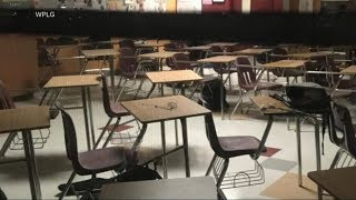 Download Haunting images show classrooms after deadly Florida school shooting Video