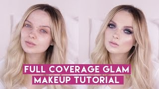 Download Full coverage Glam Glitter Makeup Tutorial // MyPaleSkin Video