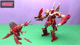 Download Khủng long đỏ lắp ráp Robot Dinobot Transformer Taikongshenrs - Đồ chơi trẻ em - Dinosaur toy kid Video
