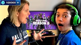 Download Kid Spends £1000 in Fortnite Season 6 on Mums Credit Card! Video