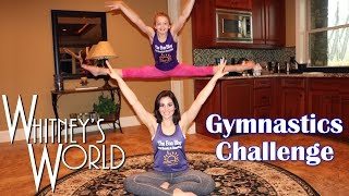Download Gymnastics Challenge | Gymnast and Not-a-Gymnast | Whitney & Gia Video
