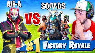 Download Ali-A *WINNING* SOLO vs SQUADS in Fortnite: Battle Royale! Video