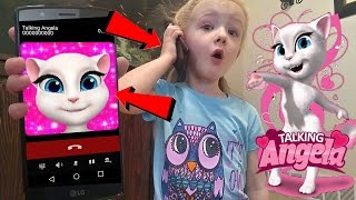 Download Talking Angela Called Me and I Answered *OMG* Calling on Android Kids Game Gone Wrong Video