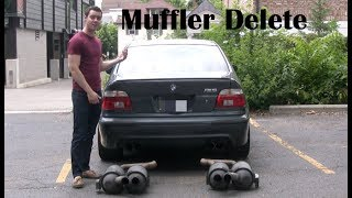 Download E39 BMW M5 Muffler Delete (straight pipe) Facts and Amazing Sounds Video