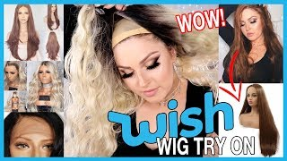 Download Trying On WISH APP Wigs! 💕💇 Lace Front & Affordable Wish Haul! Video