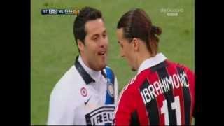 Download Julio Cesar prende in giro Ibrahimovic prima di calciare il rigore. (Ibra fa goal) Video