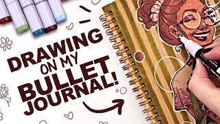 Download CUSTOMIZING MY BULLET JOURNAL! | Copic Markers on Toned Paper Video