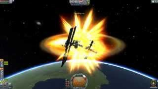 Download Colliding Things At Orbital Speeds in Kerbal Space Program Video
