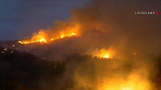 Download Temperatures drop, giving firefighters relief in California Video