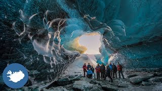 Download The ice cave tour in Iceland Video