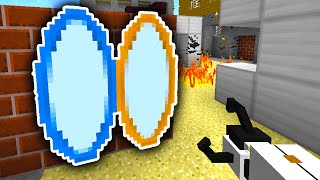 Download Minecraft PORTAL MOD BATTLE! (Portal Gun Mod) w/ PrestonPlayz & Friends! Video