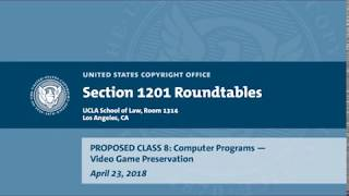 Download Seventh Triennial Section 1201 Rulemaking Hearings: Los Angeles, CA (April 23, 2018) - Prop. Class 8 Video