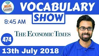 Download 8:45 AM - The Economic Times Vocabulary with Tricks (13th July, 2018) | Day #474 Video