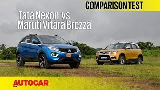 Download Tata Nexon vs Maruti Vitara Brezza | Comparison Test | Autocar India Video