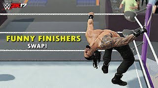 Download WWE 2K17 - Top 10 Finishers Swapping! Lesnar, Cena, Reigns, Seth Rollins, AJ Styles & More (PS4/XB1) Video