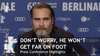 Download Don't Worry He Won't Get Far On Foot   Press Conference Highlights   Berlinale 2018 Video