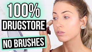 Download BEGINNER MAKEUP TUTORIAL [NEW!] || 100% Drugstore & NO BRUSHES! Video