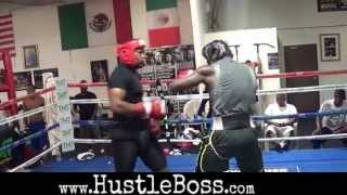 Download 2012 US Olympian Michael Hunter sparring Andrew Tabiti at the Mayweather Boxing Club Video