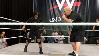 Download Dinesh Kumar performs 40 consecutive rolls at WWE tryout in Dubai Video