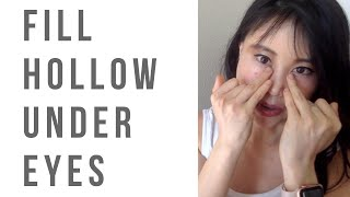 Download How to fix hollowness under the eyes | Fill up cheekbones so the hollowness disappear! Video