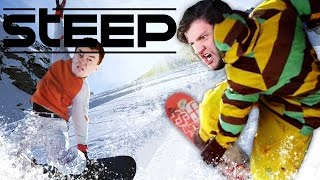 Download SICK SNOWBOARD CHALLENGES! | Steep (Funny Moments) Video