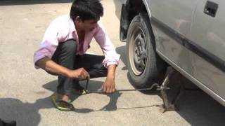 Download Replacement of tyre using Car Jack Video