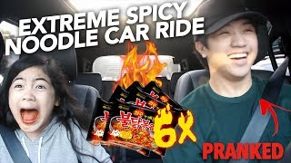 Download 6X EXTREME SPICY NOODLE CAR RIDE (I CRIED) | Ranz and Niana Video