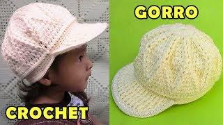 Download Gorra con vicera tejido a crochet para niños de 1 a 3 años, fácil de hacer Video