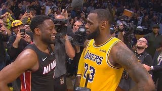 Download LeBron James Emotional Moment With Dwyane Wade After Final Game! Lakers vs Heat Video