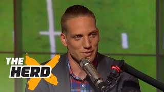 Download A.J. Hawk talks Lebron James and Aaron Rodgers | THE HERD (FULL INTERVIEW) Video