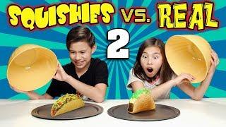 Download SQUISHY FOOD VS. REAL FOOD CHALLENGE 2!!! More JUMBO SQUISHIES! Video