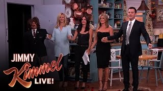 Download Jennifer Aniston, Courteney Cox, Lisa Kudrow and Jimmy Kimmel in ″Friends″ Video