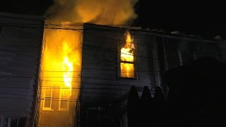 Download 4 alarm fire destroys row of homes in Allentown, PA Video