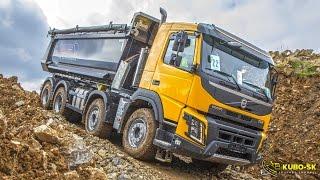 Download Volvo Trucks in construction - Volvo FMX show Czech 2016 Video