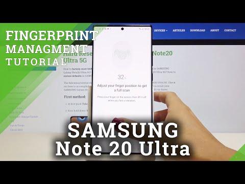 How to Add Fingerprint in SAMSUNG Galaxy Note 20 Ultra – Set Up Fingerprint Screen Lock