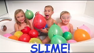 Download MAKING BALLOON SLIME ORBEEZ IN THE BATH!!! Video