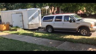 Download Ford Excursion Diesel Pulling Trailer Video
