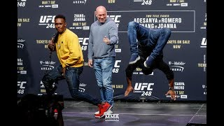 Download UFC 248: Israel Adesanya, Yoel Romero Have Dance Off After Staredown - MMA Fighting Video